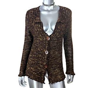BCBGMaxAzria Brown Cardigan Sweater Sz XL